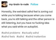 Izu, Do I Have Adhd, Satire, Adhd Facts, Adhd Funny, Adhd Brain, Adhd And Autism, Funny Tumblr Posts, I Can Relate