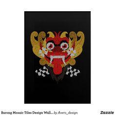 Barong Mosaic Tiles Design Wall Art