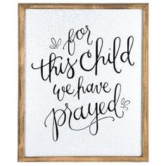 For This Child Framed Metal Wall Art