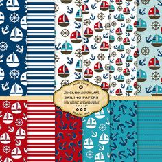 NEW Sailing Digital Papers