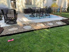 Pound-In Plastic Landscape Edging - Lawn Edging Landscaping Around Patio, Backyard Patio Designs, Backyard Ideas, Patio Ideas, Landscaping Ideas, Privacy Landscaping, Farmhouse Landscaping, Backyard Privacy, Backyard Playground