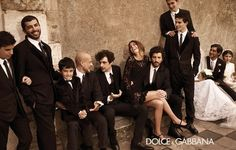 Dolce & Gabbana winter Ad Campaign at an imagined Sicilian Wedding.