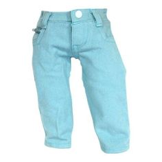 Arianna Blue Colored Zip Ticket Pocket Jeans Fits 18 inch Dolls
