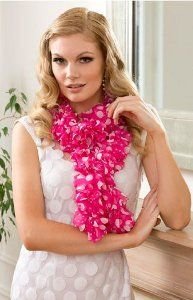 You won't believe how easy this Sassy Sweetheart Ruffle Scarf is to complete. You don't even really have to know how to crochet in order to create this masterpiece. Simply follow these two steps using only one hank of Red Heart Boutique Sassy Fabric to make this pretty pattern.