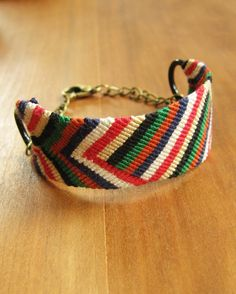 How to make a micro macrame bracelet that attaches to two large rings. It also uses a clasp - no tying on your bracelet!