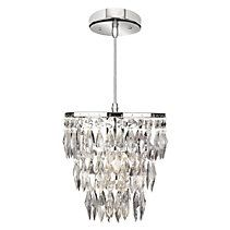 Something Sparkly for the girls' bathroom.  For Living Nadia 1-Light Chrome Petite Chandelier