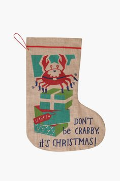 Seasalt's famous jute designs with a festive twist! Extra large Christmas Jute Stockings - perfect for filling with presents and popping under the tree.