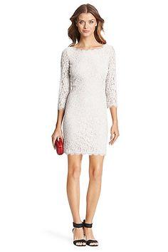 DVF Zarita Lace Dress in White