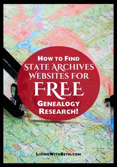 State archives and historical societies can provide useful and free information for researching your genealogy. Here's a list of state archives websites. Free Genealogy Sites, Genealogy Research, Family Genealogy, Free Family Tree, Family Trees, Family Reunion Games, Family Reunions, Family Tree Research, Genealogy Organization