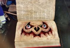 From a thrift shop book to Halloween prop.[media_id:2979150]I found my inspiration for this haunted book on http://www.stolloween.com/  I SO WANT to attend on…