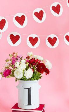 Items similar to Heart Banner, Red Glitter Heart Banner, Silver Glitter Heart Banner, Valentine's Day heart Banner, Valentine Heart and Circle Banner Set on Etsy Heart Banner, Heart Garland, Tassel Garland, Circle Garland, Garlands, Valentine Banner, Valentines Day Hearts, Valentine Heart, Glitter Hearts