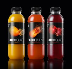 JuiceBurst interactive labeling packaging by Williams Murray Hamm