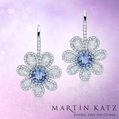 #jewelry #finejewelry #diamonds #sapphire #earrings #luxury #MartinKatz #MartinKatzJewels
