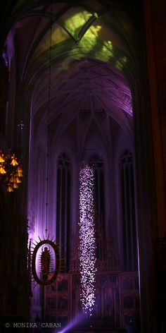purple, gothic cathedral interior,   Slovakia, Kosice, St. Elizabeth Cathedral