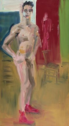 Rainer Fetting (German, b. 1949), Michael Standing, 1988. Oil on canvas, 193 x 107 cm.