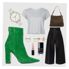 Untitled #9 by anu-lehtonen on Polyvore featuring polyvore, fashion, style, RE/DONE, Martin Grant, Barbara Bui, The Row, Skagen, MAC Cosmetics and clothing