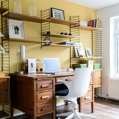 On the hunt for the perfect look for your home office? We've got hundreds of pictures of modern home office designs, traditional home offices and our selection of the cutest country home office schemes for your perusal. Traditional Home Offices, Traditional House, Traditional Kitchens, Home Office Design, Home Office Decor, Home Decor, Office Ideas, Design Desk, Study Design