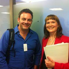 Lars Schmidt (NPR) and Terhi Aho (Psycon) at #truHelsinki 09/2012