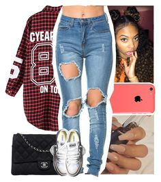 """So gone head n take ya notes."" by naebreezy ❤ liked on Polyvore featuring Chanel, Converse, women's clothing, women, female, woman, misses and juniors"