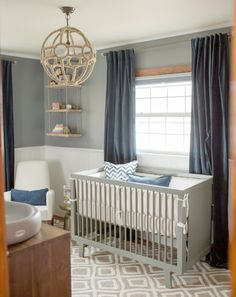 Sophisticated Nautical Nursery!                                                                                                                                                                                 More