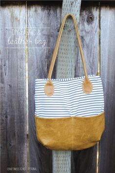 DIY fabric leather bag pattern