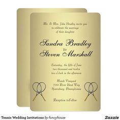 Tennis Wedding Invitations 25% off Visit my Wedding Invitation Shop http://www.zazzle.com/fancyhouse/products?dp=0&cg=196471289711553268&rf=238207742997519561&tc=pin
