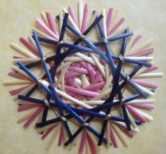 German Straw Star House Blessing Framed in a by WoodsorrelDixie, $35.00