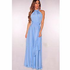 New Summer Sexy Women Maxi Dress Red Beach Long Dress Multiway Bridesmaids  Convertible Wrap Party Dresses Robe Longue Femme 2018 1 2 8e6bed8e69aa
