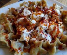 Manti Originalrezept - Türkische Ravioli mit Lammhackfleisch, Joghurt-Sauce und Paprikabutter. Außerordentlich lecker und leicht zubereitet. Manti mit...