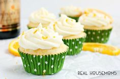 These Mimosa Cupcakes are made with orange cake and a delicious champagne and orange mimosa frosting!