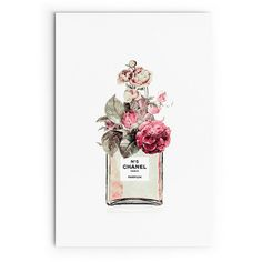 Chanel Perfume Bottle Poster Print. Set of 2. Framed Chanel Art. Ready... (925 ARS) ❤ liked on Polyvore featuring home, home decor, wall art, floral illustration, floral home decor, flower illustration, framed wall art and chanel