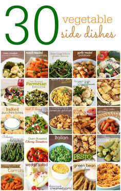 30 Vegetable Side Dishes on SixSistersStuff.com - these are perfect for summer dinners!