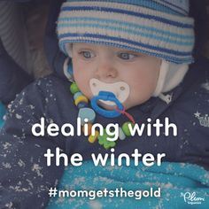 Forget downhill skiing…we think traversing an icy sidewalk with a stroller is a medal-worthy sport! #MomGetstheGold