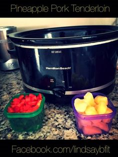 This is an easy, 21 Day Fix-approved crock pot recipe that my family loves. Setting it and forgetting it is the best! It takes the stress out of dinner time. Pineapple Pork Tenderloin (4 servings, ...