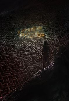 Ancient Maze by lord-phillock on DeviantArt Fantasy Art Landscapes, Fantasy Landscape, Fantasy Castle, Medieval Fantasy, Fantasy Places, Fantasy World, Dark Fantasy Art, Dark Art, Fantasy Inspiration