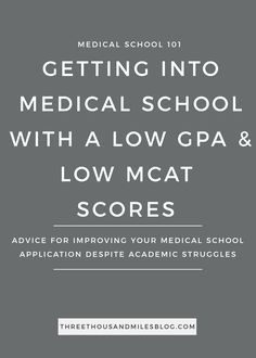 get into medical school with a low gpa and mcat, three thousand miles blog