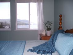 The Ocean Room on the upper level has the best view of Sechelt Inlet and the surrounding hills. The comfortable king bed, large dressing room and private en-suite provides a spacious zen like space to relax and enjoy your time at the retreat. Ocean Room, King Beds, Dressing Room, Nice View, Zen, Relax, Peace, Furniture, Home Decor