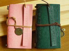 Blank book  Watch decor Retro Notebook Journal Diary Traveler notebook Artificial leather notebook
