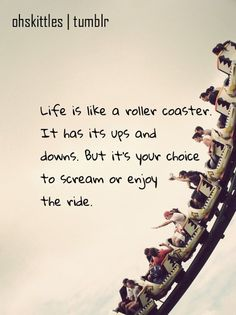 hand, rollers, life quotes, remember this, thought, inspirational quotes, roller coasters, true stories, eye
