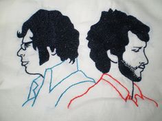 Flight of the conchords, embroidery