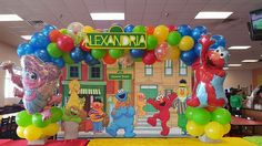 Sesame Street balloon arch