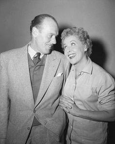 Vivian Vance and Phil Ober.....he appeared on several Lucy episodes and I Dream of Jeannie.