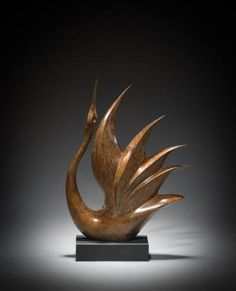 Bronze Birds Sculptures or statue by artist Simon Gudgeon titled: 'Bird of Happiness 1 (Small abstract bronze Indoor statue, sculpture)' Sculptures For Sale, Animal Sculptures, Metal Sculptures, Art Sculpture, Abstract Sculpture, Wooden Art, Small Art, Wood Carving, Saatchi Art