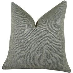 Plutus Enthusiast Tidal Handmade Throw Pillow, Double Sided, Gray
