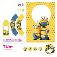 Kit Imprimible Minions - Candy Bar - Comprar en tukit