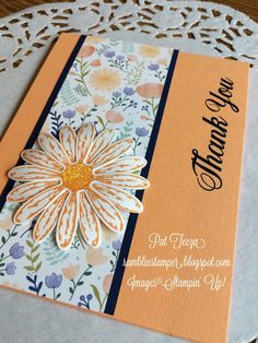 Hi friends! Daisy Delight is the first stamp set I purchased from the new catalog.  I love it!  Here's the first card I made: Do yo...