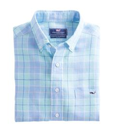 Ocean Bay Plaid Classic Tucker Shirt