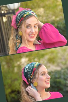 """🍀🌺These Head Coverings - """"Mitpachot"""" were created for covering all your hair, but can also be folded to show only some hair. Our fabrics are comfortable and of superior quality. Modest Wear, Modest Outfits, Modest Fashion, Hair Turban, Hair Cover, Bandana Hairstyles, Head Coverings, Superior Quality, Compliments"""