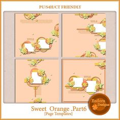Sweet Orange Part6 by Eudora Designs at MScraps http://www.mscraps.com/shop/Sweet-Orange-Part6/