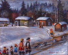 Reijo Kivihärvi - Yllätysvieraat / Surprice Guests Finland, Fine Art, Painting, Painting Art, Paintings, Visual Arts, Painted Canvas, Drawings